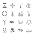 Jewelry icon black vector image vector image