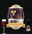 luxury golden wine label 4 vector image