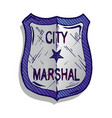 marshal badge vector image
