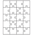 middle white puzzle vector image vector image