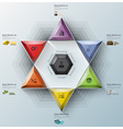 Modern Fission Triangle And Hexagon Business vector image vector image