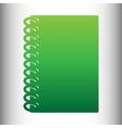 Notebook simple icon vector image vector image