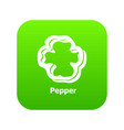 pepper icon green vector image