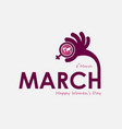 pink march typographical design elements vector image