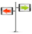 Pole with Smartphone vector image vector image
