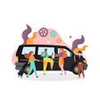 public transport bus service concept vector image vector image