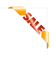 sale page vector image vector image