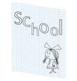 School girl picture vector image vector image