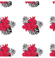 seamless tropical flower pattern vector image vector image