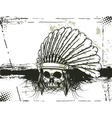 Skull with grunge background vector | Price: 1 Credit (USD $1)