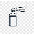 spray concept linear icon isolated on transparent vector image