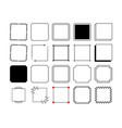 square frames border set in vintage style vector image