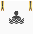 swimming pool icon vector image vector image