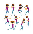 teen boy in glasses of virtual reality funny kid vector image vector image