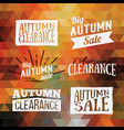 vintage autumn geometric clearance banner vector image