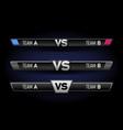 vs duel challenge set versus board rivals vector image vector image
