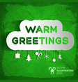 warm greetings background vector image vector image