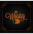 whiskey barrel label design logo background vector image vector image