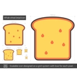 Whole wheat bread line icon vector image vector image