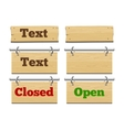 Wooden placeholders for text vector image vector image
