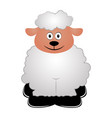 isolated sheep icon vector image