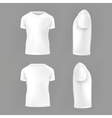set template of male T-shirts vector image