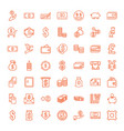 49 cash icons vector image vector image