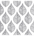 abstract mesh leaves seamless pattern vector image vector image