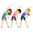 Aerobics Train create a beautiful figure vector image vector image