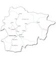 Andorra Black White Map vector image