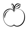 apple doodle on white background vector image vector image