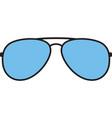 aviator sunglasses color vector image