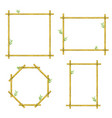bamboo design picture border frame decoration set vector image vector image