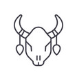 bull skull line icon sign on vector image vector image