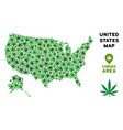 cannabis mosaic usa with alaska map