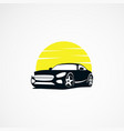 car sun logo designs simple concept icon template vector image vector image