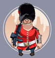 cartoon formidable soldier of the royal guard vector image vector image
