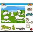 cartoon game for children vector image vector image