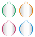 christmas balls cutout on different backgrounds vector image