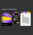 corporate identity design temlplates including vector image vector image