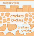 crackers and biscuits banners template vector image