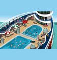 cruise vacation vector image vector image