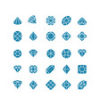 diamond abstract icons expensive jewelry vector image