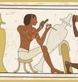 egyptian national drawing vector image vector image