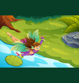 flying fairy fantasy vector image