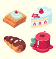 game icons set food for higher health level sweet vector image vector image