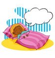 Girl sleeping in the bed vector image vector image