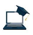 graduation hat element icon vector image vector image