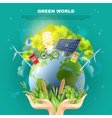 Green World Ecology Concept Composition Poster vector image vector image