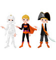 halloween boy pointing vector image vector image